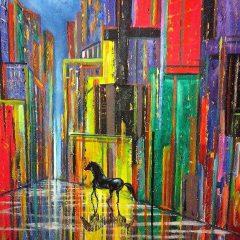Caballo Negro en la ciudad