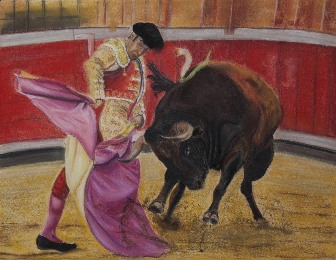 pintura original torero